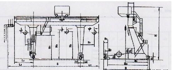 半门式起重机结构图